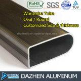 Profilo di alluminio T5 6063 del tubo rotondo ovale del guardaroba di vendita della fabbrica