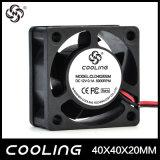 mini 12V sem escova pequeno do ventilador de refrigeração micro 5V do computador da C.C. de 40mm 40X40X20 milímetro 4020 12V 24V (ED4020S (B) 05H)