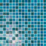 Mosaico de cristal del iridio azul para el azulejo de la pared