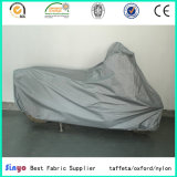 Tecido em tafetá de poliéster 100% poliéster revestido de prata para cortinas / capas de carrocerias