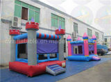 Princesa Jumping Castle, gorila inflable del Moonwalk para los cabritos