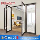 Porta de mola de vidro clássica de alta qualidade com fechadura de porta