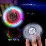 La descompresión rotatoria de la ansiedad de la relevación de la persona agitada de la maneta del nuevo del triángulo LED del dedo de la perilla girocompás cristalino manual del dedo juega la hélice del dedo de la descompresión
