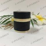Frasco de creme acrílico preto luxuoso novo da chegada 30g 50g para o empacotamento do cosmético (PPC-ACJ-122)