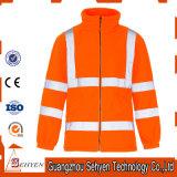 Alta visibilidad que calienta la chaqueta reflexiva de la seguridad