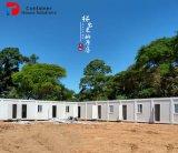 中国の難民キャンプのプレハブの家