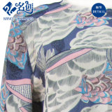 고리 긴 소매의 둘레에 추상적인 인쇄는 느슨하게 숙녀에게 복장을 모양 짓는다