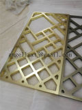 Matériau aluminium couleur or Partition de l'écran d'art du diviseur de la salle de Fabrication en acier inoxydable