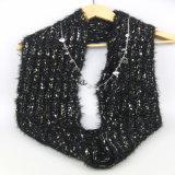 le donne di colore 100%Acrylic hanno lavorato a maglia la sciarpa calda accessoria di Fashoin dello scaldino del collo di inverno