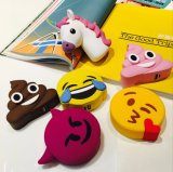 La sonrisa de PVC de dibujos animados grito cara Unicorn Emoji Banco de potencia de 2600mAh