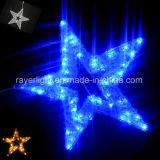 LED屋外の大きいLEDの星のモチーフはクリスマスの装飾的なライトをつける