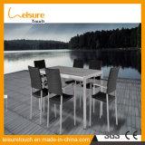 [توب قوليتي] ألومنيوم حديقة خارجيّ يتعشّى أثاث لازم بلاستيكيّة خشبيّة كرسي تثبيت طاولة مجموعة
