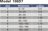 Vorbildliche 106D7 Tanaka Düse der Ausschnitt-Öffnungs-0.6-2.3