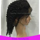 Парики шнурка человеческих волос девственницы плотности 130% глубоко курчавые полные