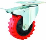 4-8 Veins Zoll PU Tyer Fußrollen-Rad Hochleistungs-PU-industrielle Fußrolle
