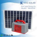 Whc 6V20W Kit d'énergie solaire à LED rechargeable pour camping