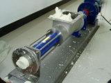 Einzelne Schrauben-Pumpe mit einem Vierecks-Aufgabetrichter