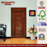 Classique découpant la porte interne de pièce en bois solide (GSP2-073)
