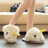 Cartoon Indoor Pantoufles Plush Unicorn Fur Slippers