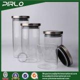 (400g 500g 600g 700g 900g)ステンレス鋼のふたが付いている大きい容量のガラス瓶