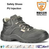Zapatos de seguridad de la inyección de la PU con la punta de acero antiestática para trabajar Sc-6579