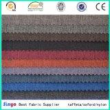 黒いPVC上塗を施してあるジャカードナイロン300d陽イオンDTYはソファー/Bagsを作るためにDuotoneオックスフォードファブリックを嘆く