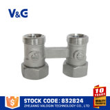 Клапан латунного кузница двойной (VG-K19011)