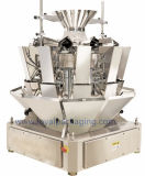 Pesatore dell'alimento con la macchina per l'imballaggio delle merci verticale per le polpette