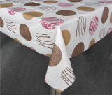 LFGB Printed Tablecloth Material de PVC com Backing (Full Color)