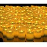 Bougie Fake Electrique en Chaud Blanc Réaliste et Lumineux Clignotant Flameless LED Tea Light