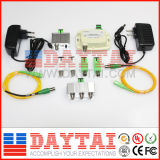 Nó de fibra óptica de 4 vias FTTH CATV Optical Receiver