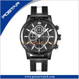 Orologio personalizzato speciale degli uomini del cronografo della parte superiore della vite