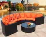 Garten-Freizeit beinahe ringsum Sofa-Freizeit PET Rattan-Möbel
