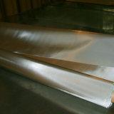 電流を通されたステンレス鋼の金網のひだの金網