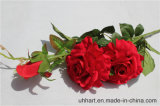 결혼식 훈장 빨간 인공적인 로즈 꽃