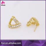 最も新しいデザイン方法宝石類の銅の女性のための立方ジルコニアのイヤリング
