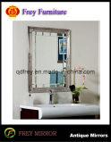 ガラスが付いているヨーロッパデザイン純木の壁ミラーフレーム