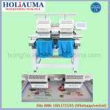 Holiauma 2017 New 2 Máquinas de bordar cabeças com novo sistema de controle de computador Daohao 8 '