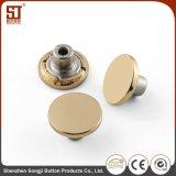 Botón redondo simple modificado para requisitos particulares del broche de presión del diente del metal para los pantalones vaqueros