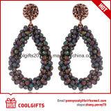 2017 orecchini di cristallo multicolori di figura di goccia di stile della Boemia di modo