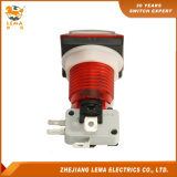 Bouton poussoir en plastique carrée électrique commutateur rouge Pbs-008