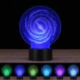свет ночи иллюзиона 3D, изменять 7 цветов