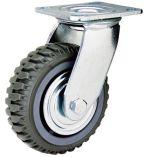 Schwenker und justierbares Fußrollen-Rad mit Bremse für Baugerüst