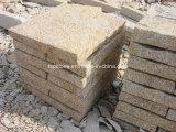 Pietra cubica del granito giallo per pavimentare