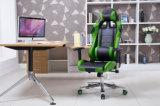 Computer, der Spiel-leitende Stellung-Stuhl mit Stützgrün läuft
