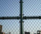 학교 운동장 9 계기 다이아몬드 구멍 PVC 입히는 체인 연결 검술