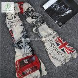 2017 Manier van de Sjaal van de Viscose de Britse Vlag Afgedrukte Dame Scarf Factory