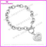 Il cuore incanta i braccialetti di cremazione di Pulseras per l'acciaio inossidabile delle donne