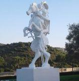 Décoration de jardin Peinture blanche statue Art personnalisés Sculpture en bronze