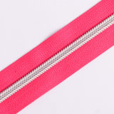 No. 5 5 # Nylon Zipper Prata Dente Longa Cadeia
